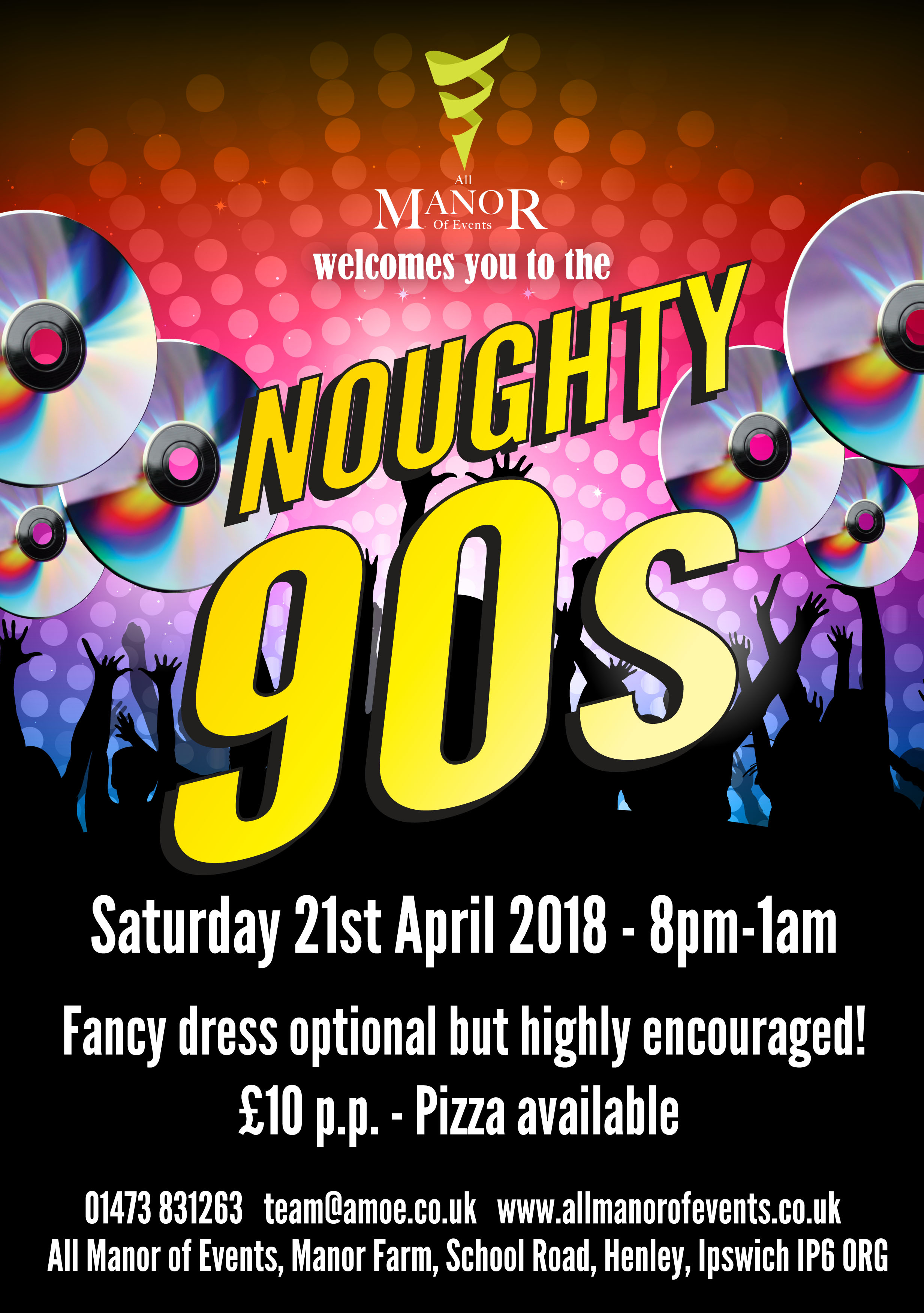 Noughty 90s flyer