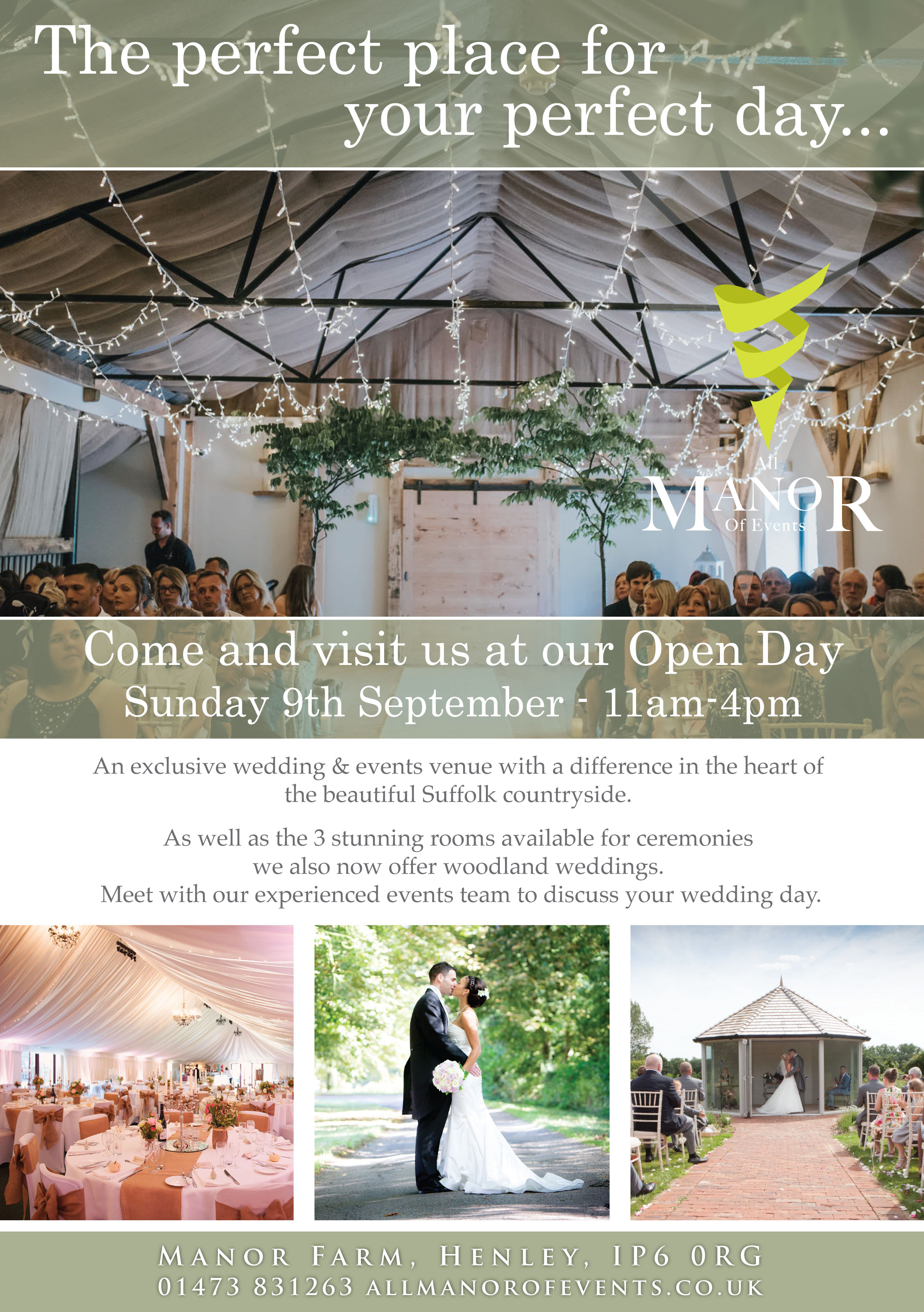 AMOE Open day Advert 2018 Sept